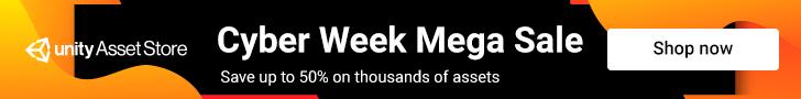 Unity Asset Store Cyber Week Mega Sale 2019
