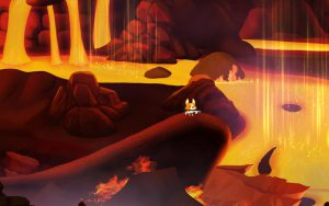 Lava Cave Corgi Engine - a 2D game engine for Unity game development