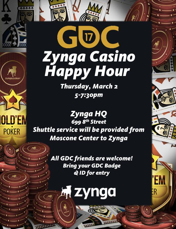 Zynga Casino Happy Hour at GDC 2017