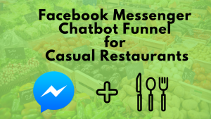 Facebook Messenger Chat Bot Manychat Funnel Casual Restaurant case study retail food marketing hospitality