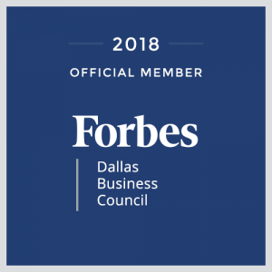 Nolan Clemmons Forbes Dallas Business Council Blue Logo DFW Texas Marketing Entrepreneur